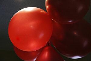 birth day balloons Red balloons