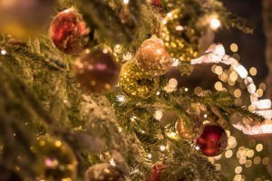 In the Christmas tree