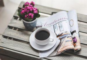 coffee magazine flower