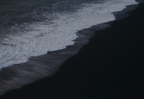 Dark Ocean Beach