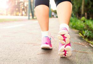 walking pink shoes