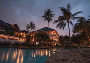 Hotel Night Palm Trees
