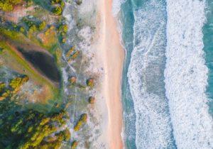 pastel color beach