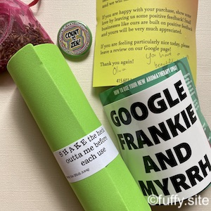 essential oil spray package