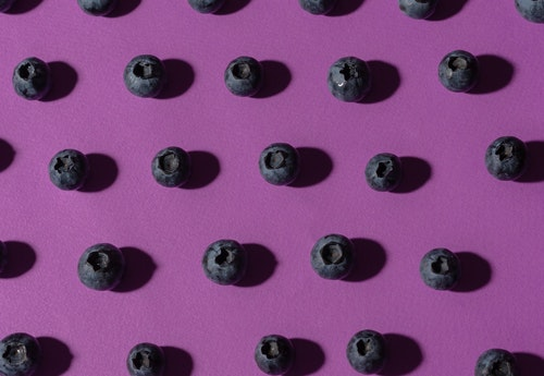 purple blueberries