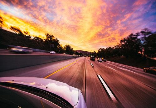 car road sky