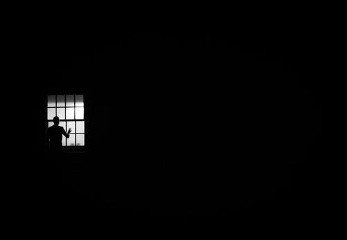 dark black window